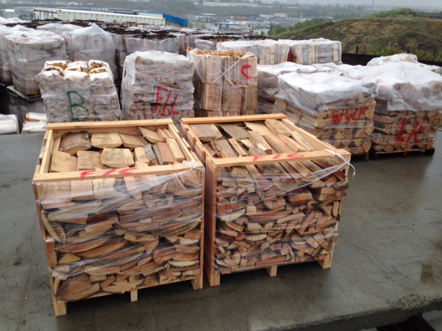 Crate of Douglas                                               Fir slab firewood